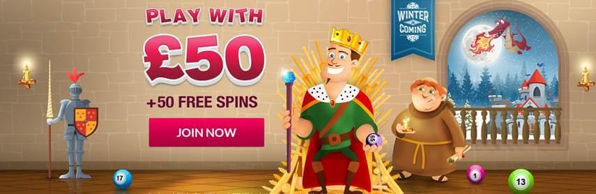 Robin Hood Bingo 50 Free Spins